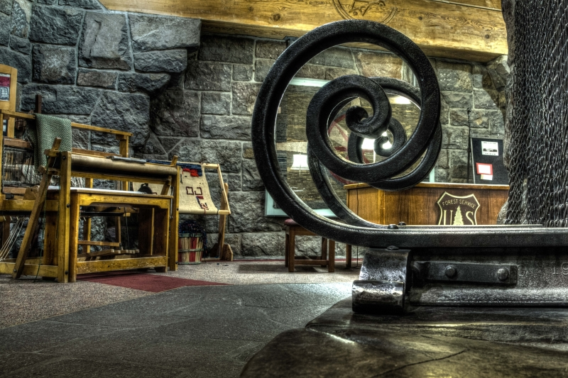 Timberline Lodge Fireplace Detail