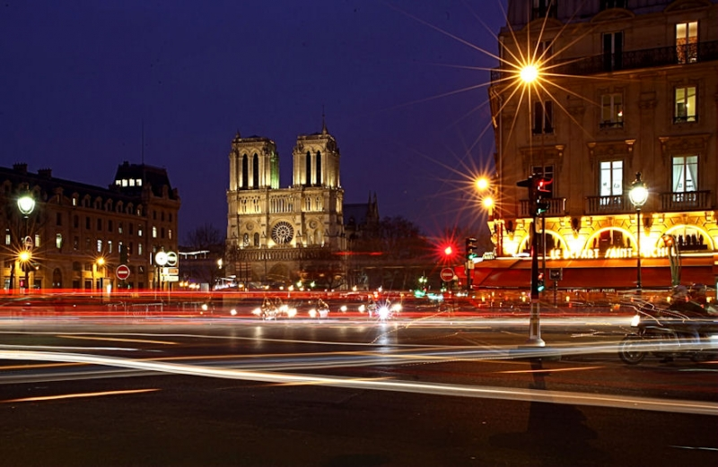Traffic Trails And Notre Dame