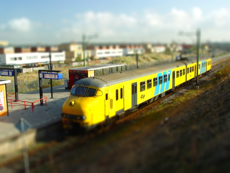 Train In The Netherlands In 'Miniature'