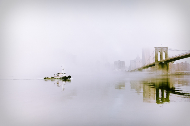 Tugboat In The Fog