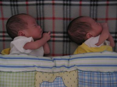Twins First Night Home
