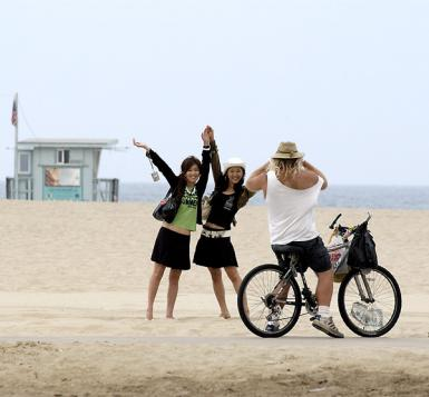 Venice Beach Tourists