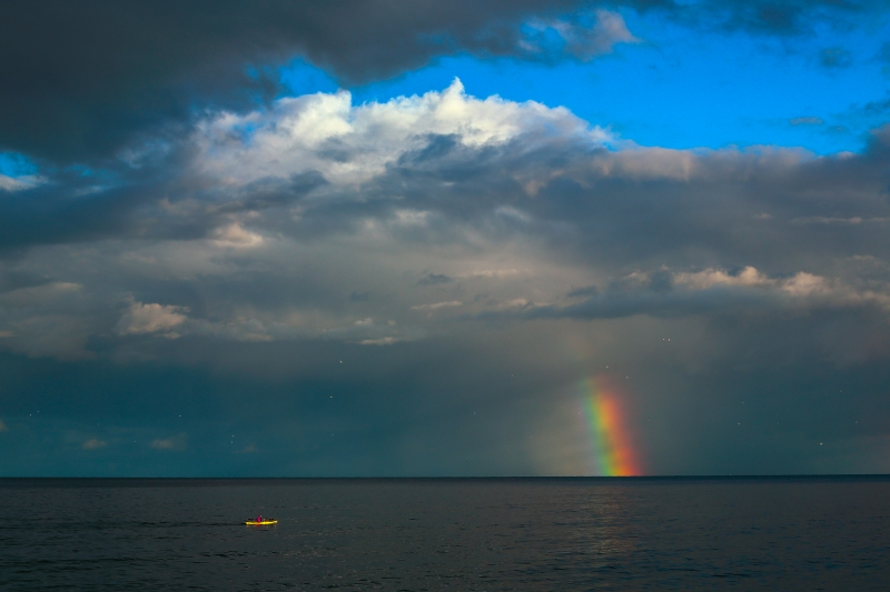 Virga, Kayak, Rainbow