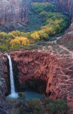 Waterfall In Grand Canyon