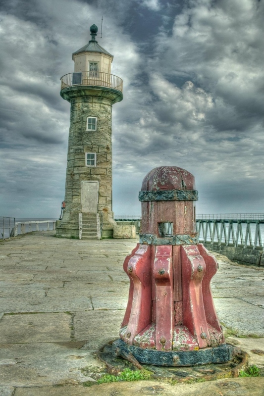 Whitby East Pier Lighthouse & Capstan