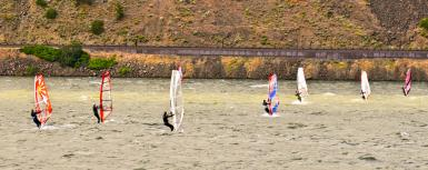 Wind Surfing In The Columbia Gorge