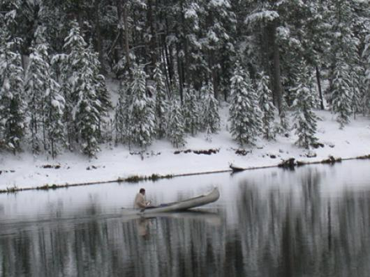 Winter Canoe Ride
