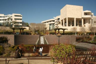 Winter In The Getty Museum
