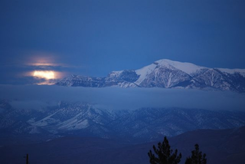 Wolf Moon Over Mt Charleston