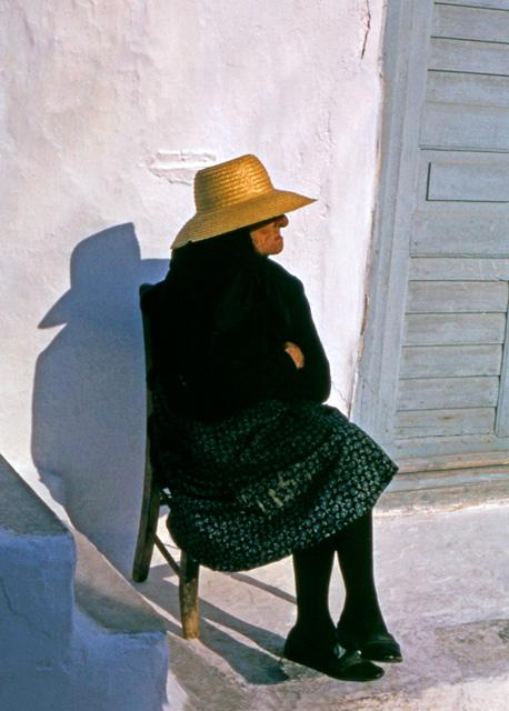 Woman In Chair, Mykonos