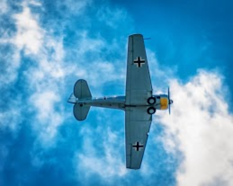 World War Ii Plane Over Orange County