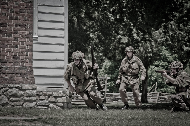 Wwii Reenactment Shot