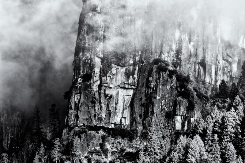 Yosemite Valley In The Mist
