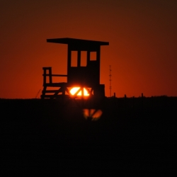 Sunset At The Lifeguard Station