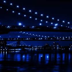 Three Bridges In Blue