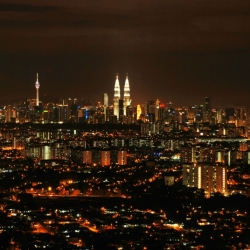 Kl Cityscape At Night