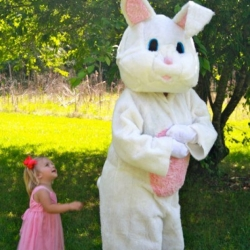 Meeting The Easter Bunny For The First Time