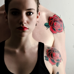 Two Red Rose Tattoos