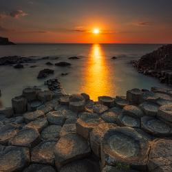 Sunset at Giant's Causeway, Northern Ireland