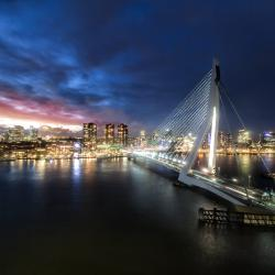 Rotterdam during sunset