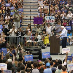Bernie Sanders in New Orleans
