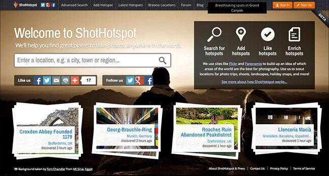 Find Your Next Photo Location With ShotHotSpot
