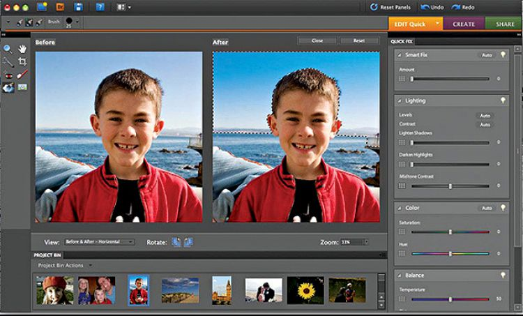 "Photoshop, meet Bob."" Find photos of your favorite people faster with the new People Recognition feature. Photoshop Elements will prompt you to make the initial introductions when you import photos, and the software automatically analyzes your library to get to know everyone."