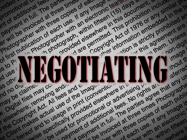 Negotiating Advice For Working Photographers