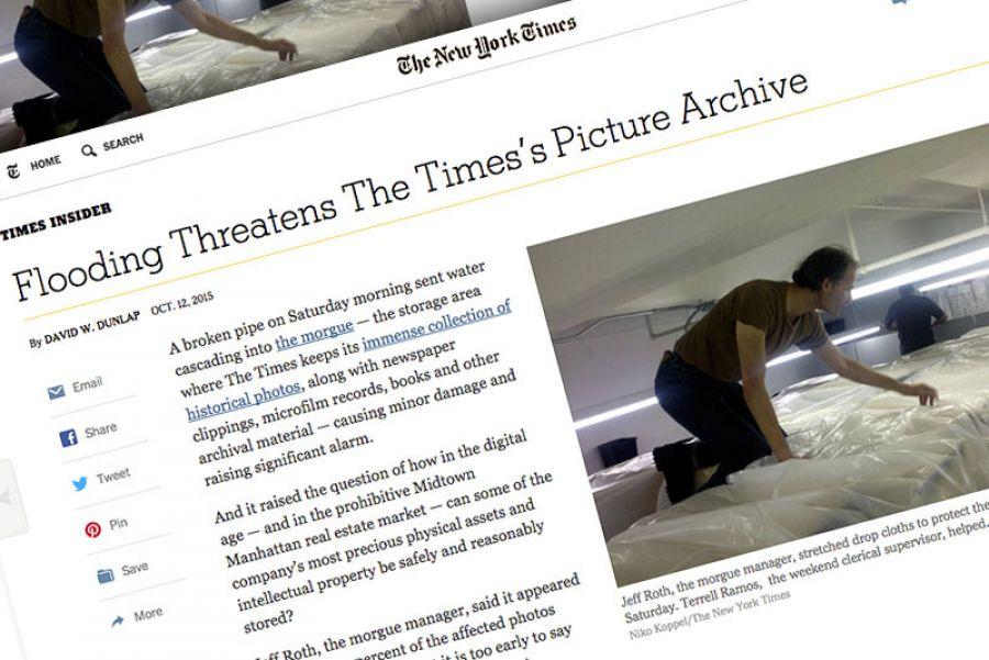 Flooding Threatens New York Times' Historical Photo Archive