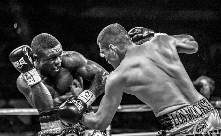 Some sports, such as boxing, are really great contenders (pun intended) for black-and-white photography. The high contrast makes the fighters' musculature stand out, and the monochromatic elements give the image an iconic look.