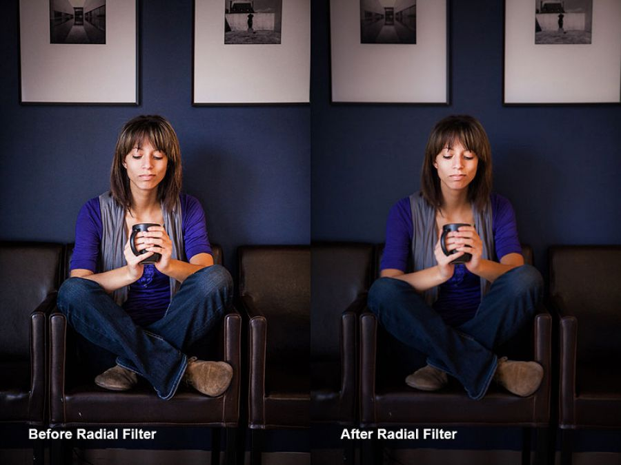Using Lightroom's Radial Filter