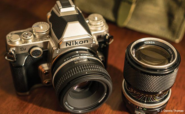The Nikon Df is currently the only retro-style DSLR on the market. It combines the style of a vintage Nikon F with the outstanding image quality of Nikon's flagship camera, the D4.