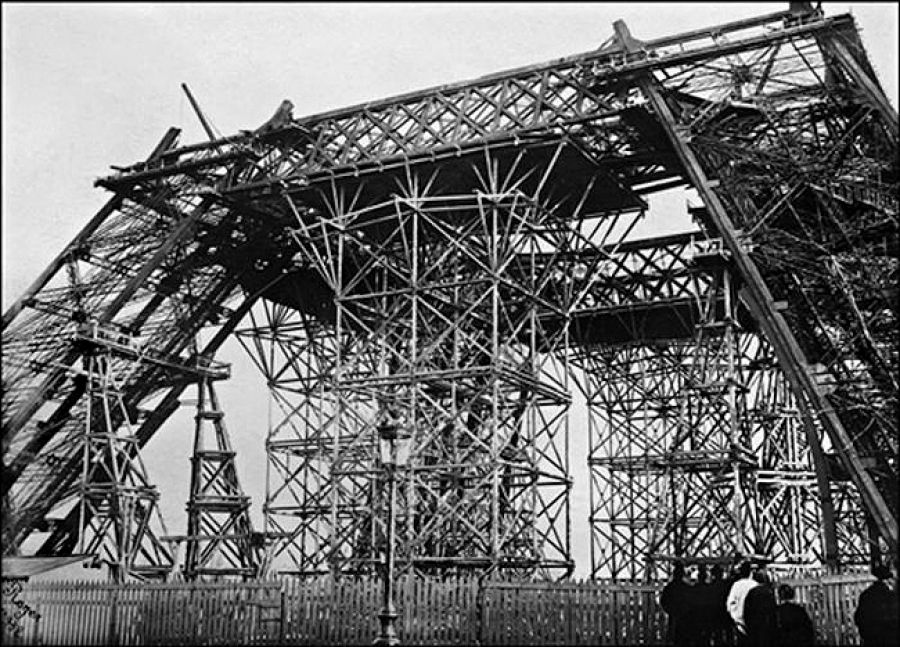 The Earliest Images Of The Eiffel Tower