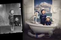 Artist Turns Old Photos Into Whimsical Composites