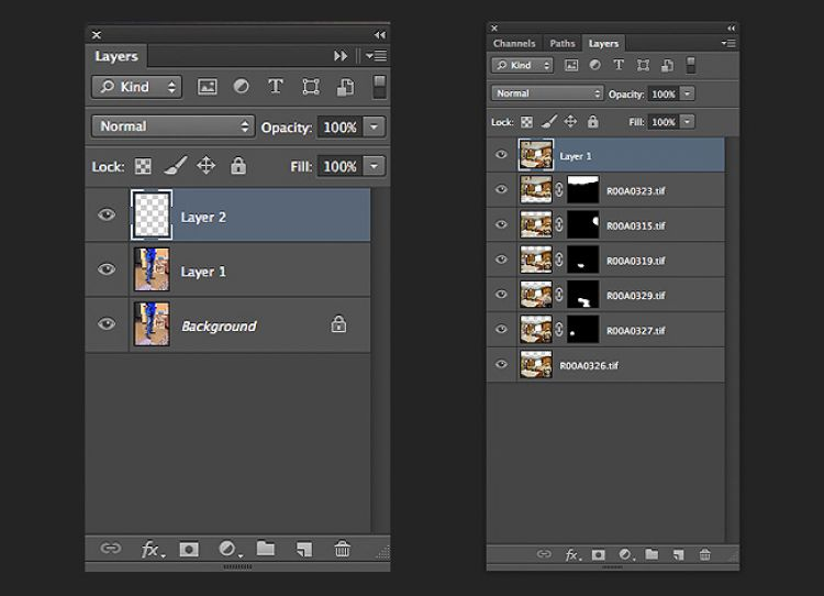 Retouching Multi-Layered Files