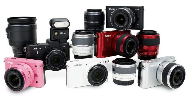 Nikon is the latest camera maker to introduce a mirrorless system. The Nikon 1 series launched in 2011 with two models, the J1 and V1, built around a new CX-format sensor. Four lenses designed for the system accompany these new models, along with accessories like the Nikon 1 SB-N5 Speedlight.